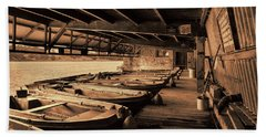 Hand Towel featuring the photograph The Boat House  by Scott Carruthers