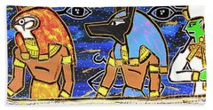 The Boat Of Ausar Passing Through The Underworld Hand Towel