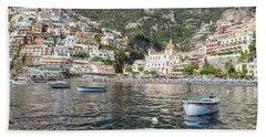 The Boats Of Positano  Hand Towel