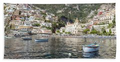 The Boats Of Positano  Bath Towel