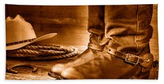 The Boots - Sepia Hand Towel