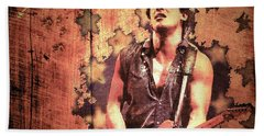 Hand Towel featuring the photograph The Boss 1985 by Paula Ayers
