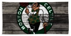The Boston Celtics W7 Hand Towel by Brian Reaves