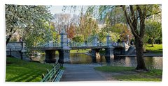 The Boston Public Garden In The Spring Boston Ma Hand Towel