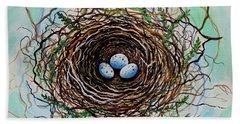 The Botanical Bird Nest Hand Towel