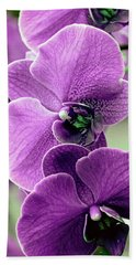 The Branch Of Orchids Bath Towel