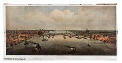 The Bridge At St. Louis, Missouri, Ca. 1874 Hand Towel