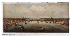 The Bridge At St. Louis, Missouri, Ca. 1874 Bath Towel