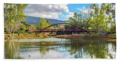 The Bridge At Vasona Lake Digital Art Bath Towel