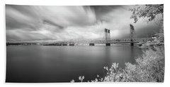 The Bridge Crosses Columbia River Bath Towel