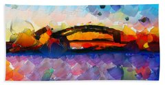 The Bridge I Will Cross Hand Towel by Sir Josef - Social Critic -  Maha Art