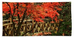 The Bridge In The Park Hand Towel by Connie Handscomb