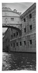 The Bridge Of Sighs, Venice, Italy Hand Towel