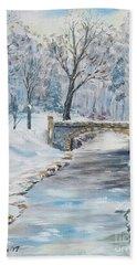 The Bridge Bath Towel by Stanton Allaben