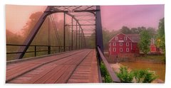 The Bridge To War Eagle Mill - Arkansas - Historic - Sunrise Hand Towel