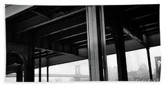 The Brooklyng Bridge And Manhattan Bridge From Fdr Drive Bath Towel