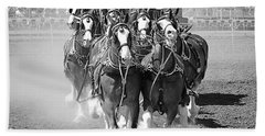 The Budweiser Clydesdales Bath Towel