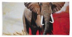 Win Win - The  Bull Elephant  Bath Towel