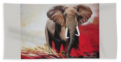 The Bull Elephant - Constitution Bath Towel by Sigrid Tune