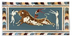 The Bull Of Knossos Bath Towel by Unknown