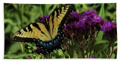 Hand Towel featuring the photograph The Butterfly Buffet by J L Zarek