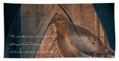 the Caged Bird Sings - Maya Angelou inspiring quote Bath Towel