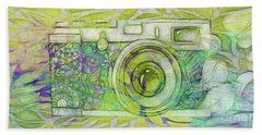 Hand Towel featuring the digital art The Camera - 02c5bt by Variance Collections