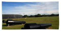 The Cannons At Fort Moultrie In Charleston Hand Towel