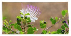 The  Caper Flower Blossoms. Hand Towel