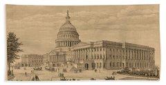 The Capitol At Washington Hand Towel