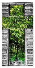 The Carpenters Cross Hand Towel by Daniel Thompson