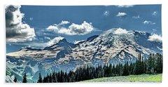 The Cascade Mountains And Mt. Rainier Hand Towel