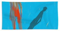 Hand Towel featuring the painting The Cast Shadow by Jim Vance