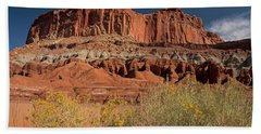 The Castle In Capital Reef Hand Towel