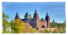The Castle Johannisburg In Aschaffenburg In Germany Hand Towel