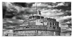 The Castle Of Sant'angelo In Rome Hand Towel