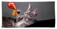 The Cat And The Fish Hand Towel