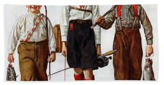 Norman Rockwell Paintings Hand Towels