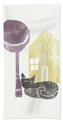 The Cat's House- Art By Linda Woods Hand Towel