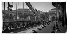 The Chain Bridge, Danube Budapest Hand Towel