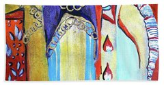 Hand Towel featuring the painting The Chains That Bind Us To Christ by Mindy Newman