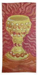 The Chalice Or Holy Grail Hand Towel