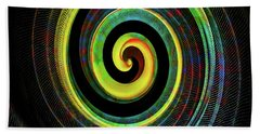 Bath Towel featuring the digital art The Chameleon Snake Skin by Steve Taylor