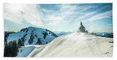 The Chapel In The Alps Bath Towel