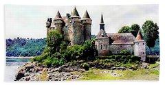 The Chateau De Val Bath Towel by Joseph Hendrix