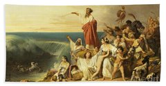 The Children Of Israel Crossing The Red Sea Hand Towel