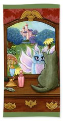 The Chimera Vanity - Fantasy World Bath Towel by Carrie Hawks