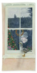 The Christmas Goose  Hand Towel by Ditz