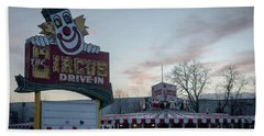 Bath Towel featuring the photograph The Circus Drive In Wall Township Nj by Terry DeLuco