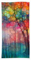 The Circus Tree Bath Towel by Tara Turner